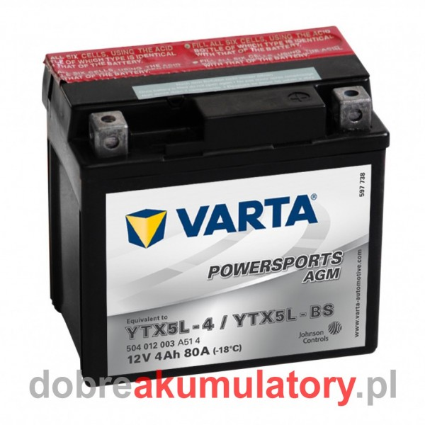 VARTA YTX5L-BS 12V/4Ah