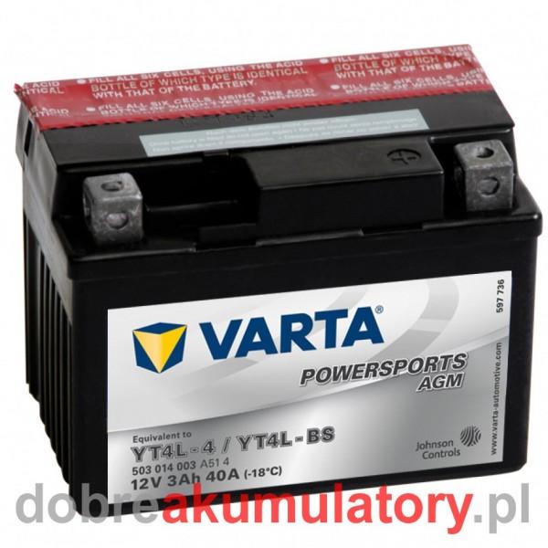 VARTA YTX4L-BS 12V/3Ah YT4L-BS