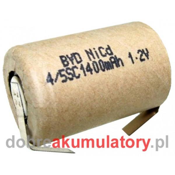 Ogniwo BYD 4/5SC1400P Ni-Cd z blaszkami przyłączeniowymi
