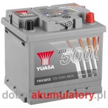 YUASA YBX5012 12V/52Ah P+
