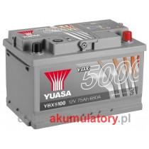 YUASA YBX5100 12V/75Ah P+
