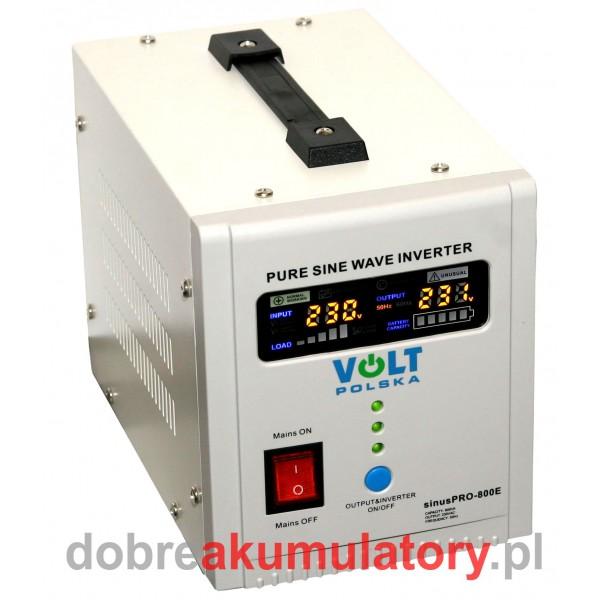 Przetwornica VOLT SINUSPRO 500/800W 12V/230V