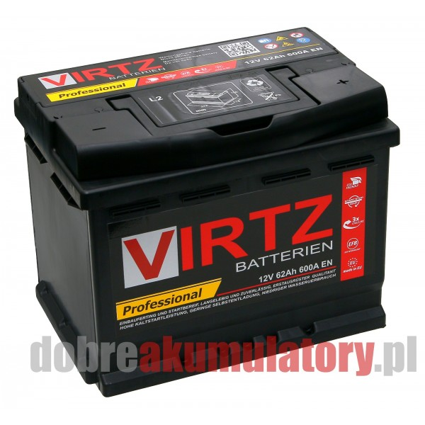 AKUMULATOR VIRTZ PROFESSIONAL 12V/62Ah EFB START-STOP