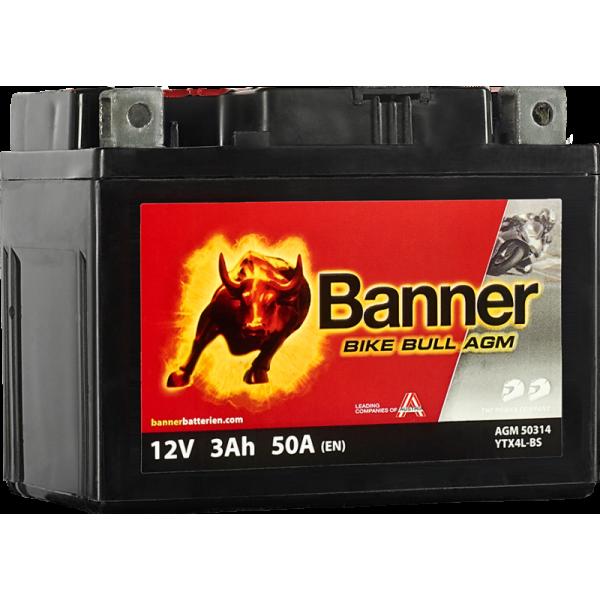 BANNER BIKE BULL YTX4L-BS 12V / 3 Ah
