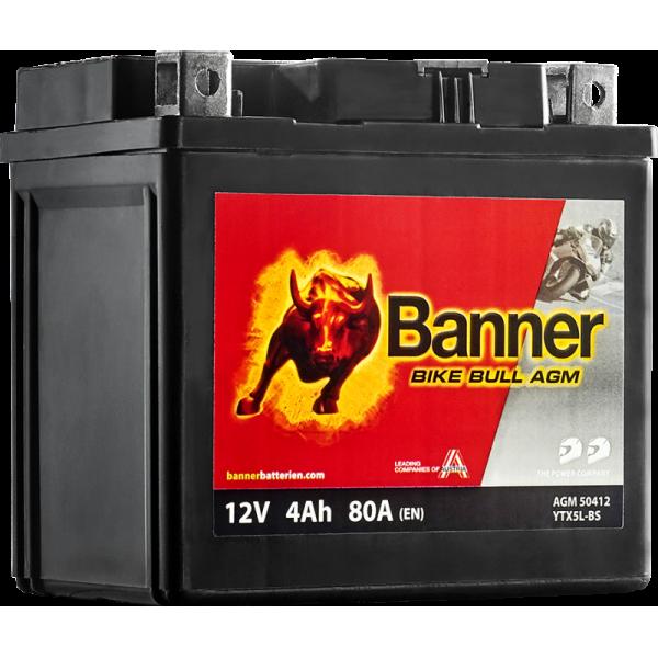BANNER BIKE BULL YTX5L-BS 12V / 4 Ah