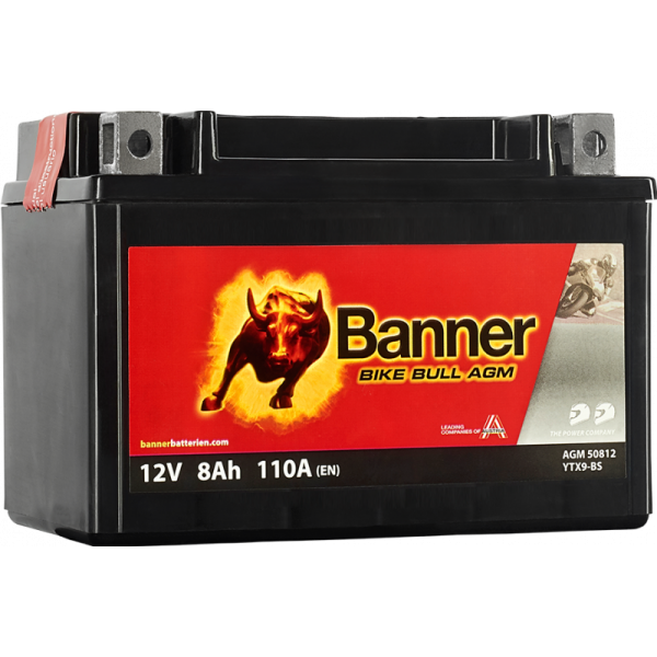 BANNER BIKE BULL YTX9-BS 12V / 8 Ah
