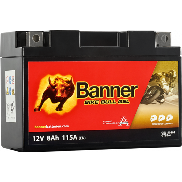 BANNER BIKE BULL YT9B-4 12V / 8 Ah