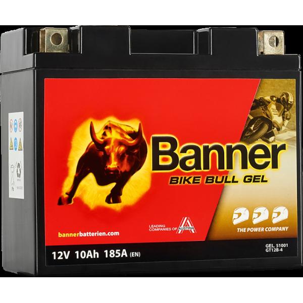BANNER BIKE BULL GT12B-4 YT12B-BS 12V/10Ah