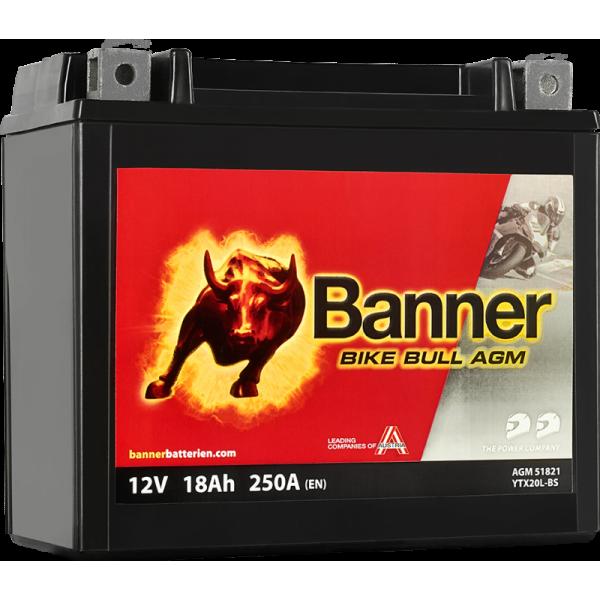BANNER BIKE BULL YTX20L-BS 12V / 18 Ah