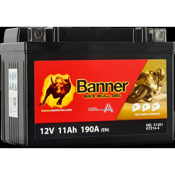 BANNER BIKE BULL GTZ14-4 YTZ14S 12V / 11Ah
