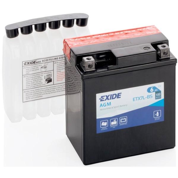 EXIDE YTX7L-BS 12V/6Ah 100A