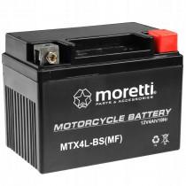 Moretti MTX4L-BS YTX4L-BS 12V/4Ah 50A