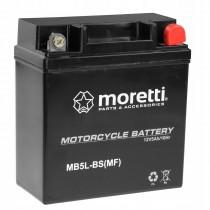 Moretti MB5L-BS YB5L-BS 12V/5Ah 65A