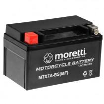 Moretti MTX7A-BS YTX7A-BS 12V/7Ah 90A