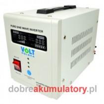 ZESTAW ZASILANIA AWARYJNEGO CZYSTY SINUS 800W + VOLT VPRO SOLAR 12V/110Ah UPS CO2