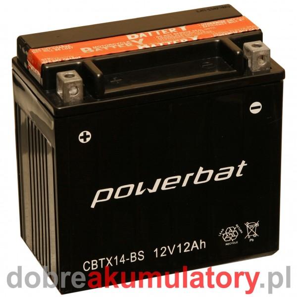 POWERBAT CBTX14-BS / YTX14-BS 12V/12Ah